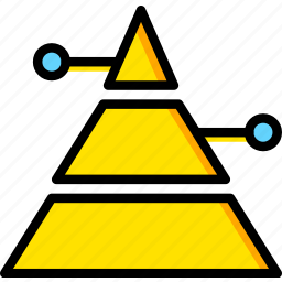 business, finance, marketing, pyramid icon