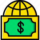 business, currency, finance, marketing, world icon