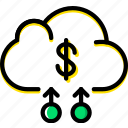 business, cloud, finance, marketing icon