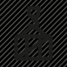 cargo, container, crane, loading icon