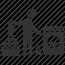 cleaning, husband, laundry, servant, spouse, wash, washing icon