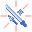 armed, fighting, sword, weapon