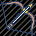 bow, arrow