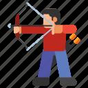 archer, archery, arrow, bow icon