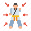 kimono, martial arts, personal, training icon