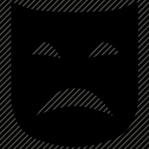 carnival, mask, sad, sorrowful, theater, theatre icon