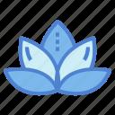 flower, lotus, spa, yoga icon