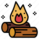 bonfire, burn, flame, hot icon
