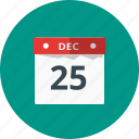 calendar, celebration, christmas, date, event, holiday icon