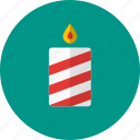 candle, celebration, christmas, decoration, light icon