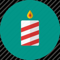 candle, celebration, christmas, decoration, light icon