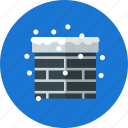 chimenea, christmas, decoration, snow, winter icon