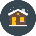home, house, snow, weather, winter icon
