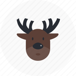 christmas, decoration, holiday, reindeer, winter icon