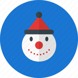 christmas, decoration, holiday, snowman, winter icon