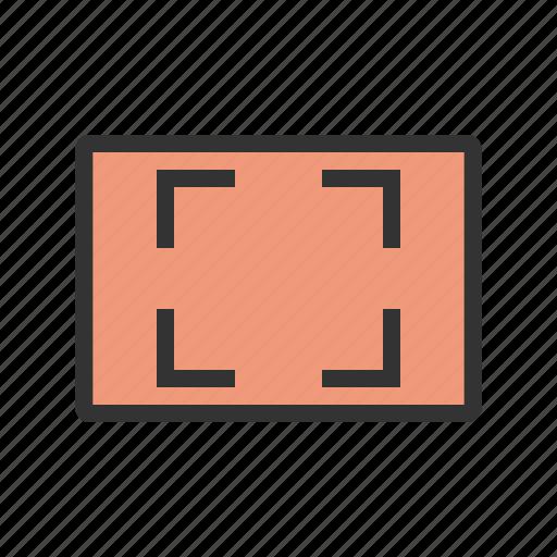 art, aspect, graphic, monitor, ratio, sign, tv icon