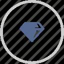 brilliant, diamond, jewelry, shine, stone icon