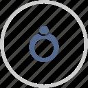 diamond, gift, item, jewelry, ring icon