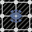 biometry, eye, identity, person, scan icon