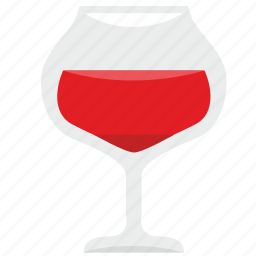 alcohol, bocal, dishes, drink, glass, red, wine icon
