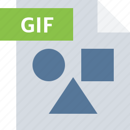 extension, file, format, gif, image, type icon