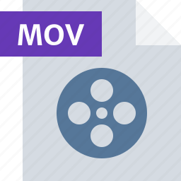 file, media, mov, movie, player, type, video icon