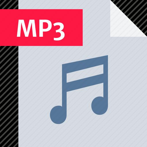 audio, file, media, mp3, music, sound, type icon