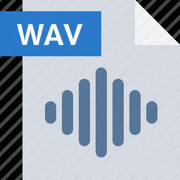 audio, file, media, music, sound, type, wav icon
