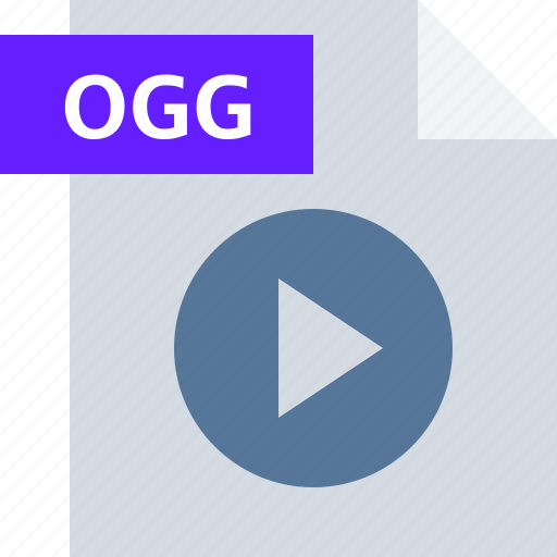 extension, file, media, ogg, player, type, video icon