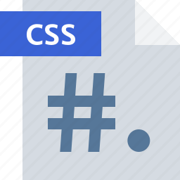 code, css, extension, file, type icon