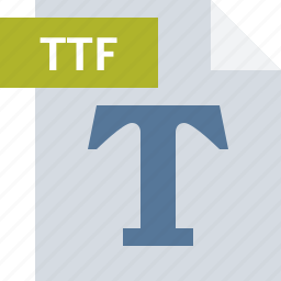 extension, file, font, format, ttf, type icon