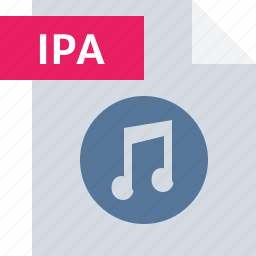 audio, file, ipa, media, music, sound, type icon