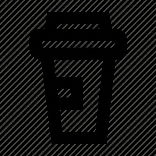 coffee, drink, glass, mug, paper icon