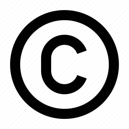 company, copyright, legal, registration, right, trademark icon