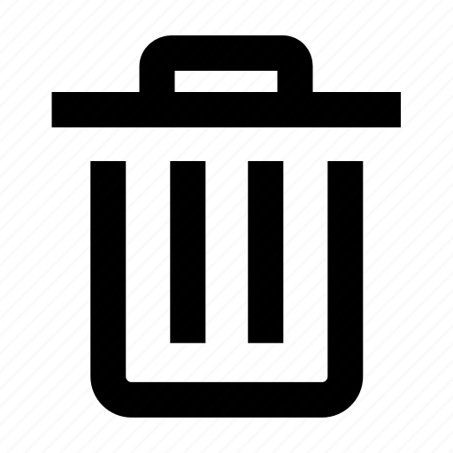 delete, dustbin, office, recycle, remove, trash, wastebin icon