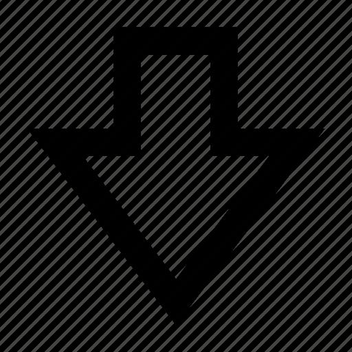 arrow, chevron, direction, down, drop icon