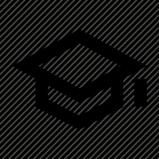 degree, education, hat, institute, study, university icon