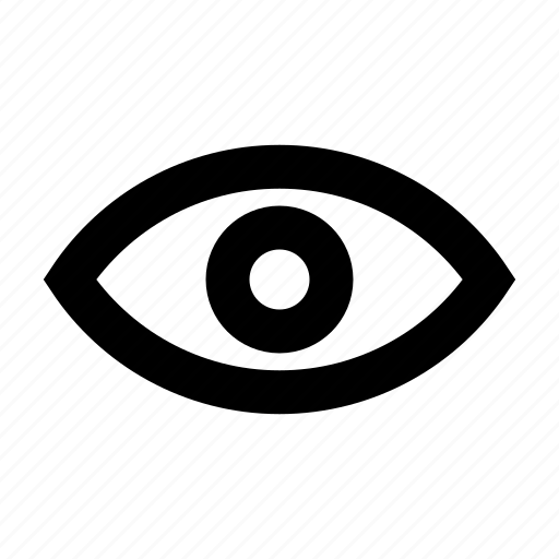 eye, look, overview, show, view, visibility, vision icon