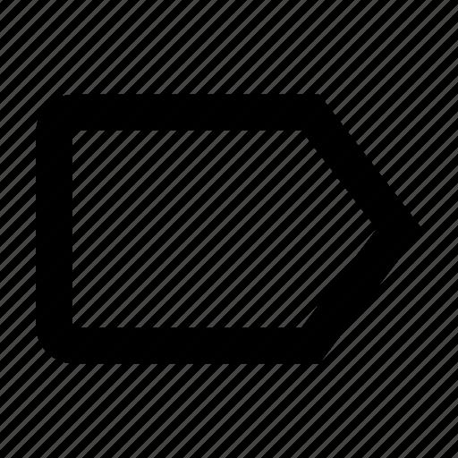 bookmark, label, mark, tag icon