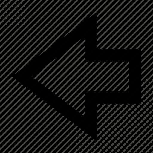 arrow, back, direction, go, left, previous icon
