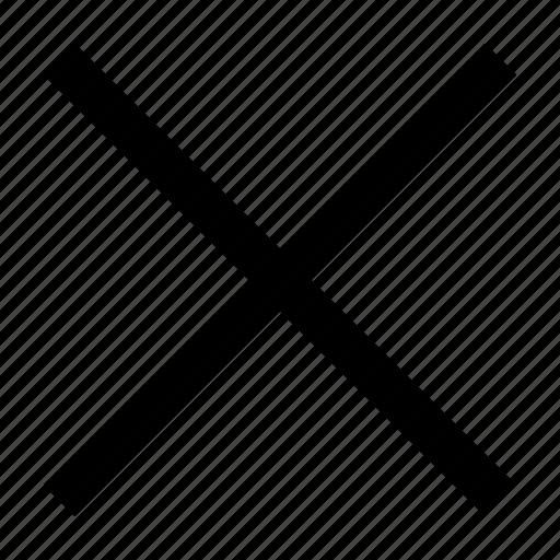 cancel, close, cross, delete, math, multiply, sign icon