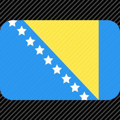 and, bosnia, country, flag, herzegovina, nation icon