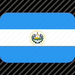 country, el, flag, nation, salvador icon