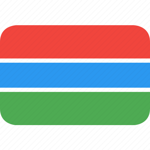 country, flag, gambia, nation icon