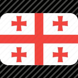 country, flag, georgia, nation icon