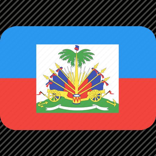 country, flag, haiti, nation icon