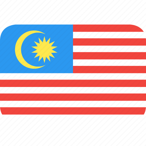 country, flag, malaysia, nation icon
