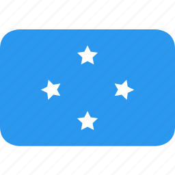 country, flag, micronesia, nation icon