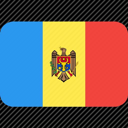 country, flag, moldova, nation icon