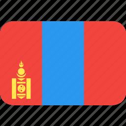 country, flag, mongolia, nation icon